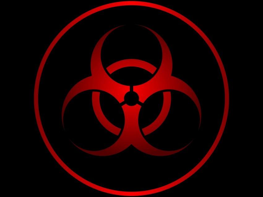 free PNG radiation, sign, symbol, red, black background PNG images transparent