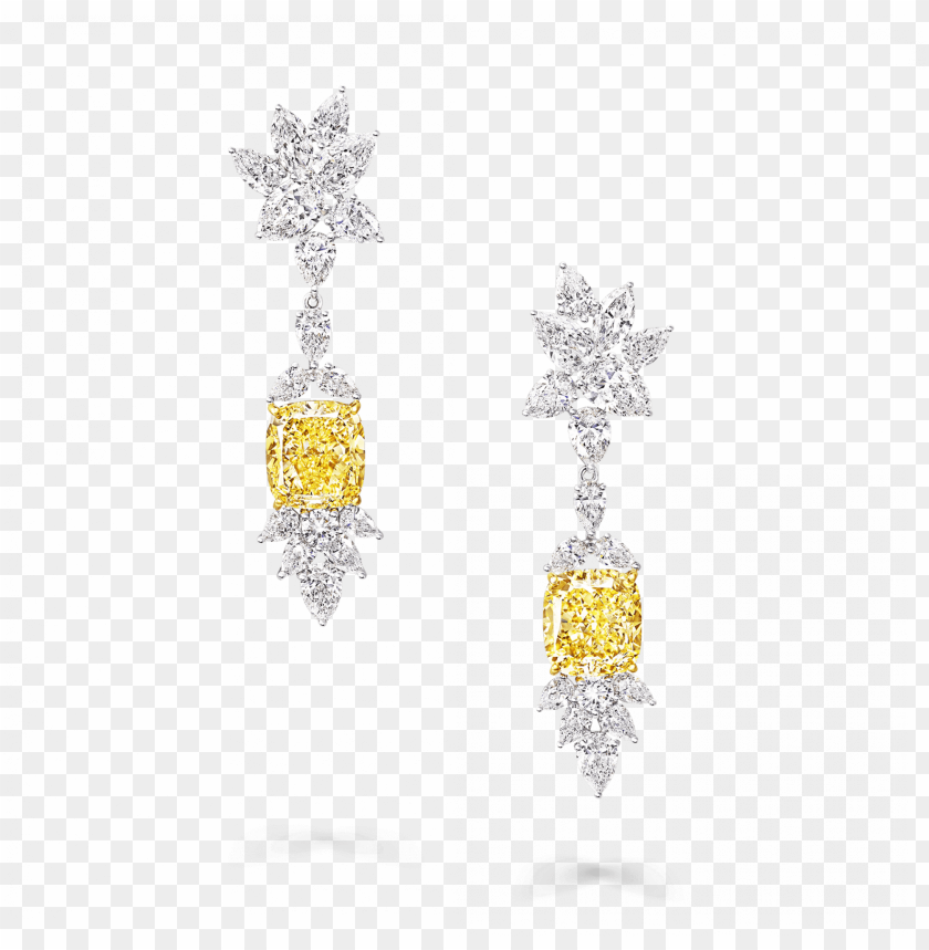free PNG raff yellow diamond high jewellery a yellow and white - earrings PNG image with transparent background PNG images transparent