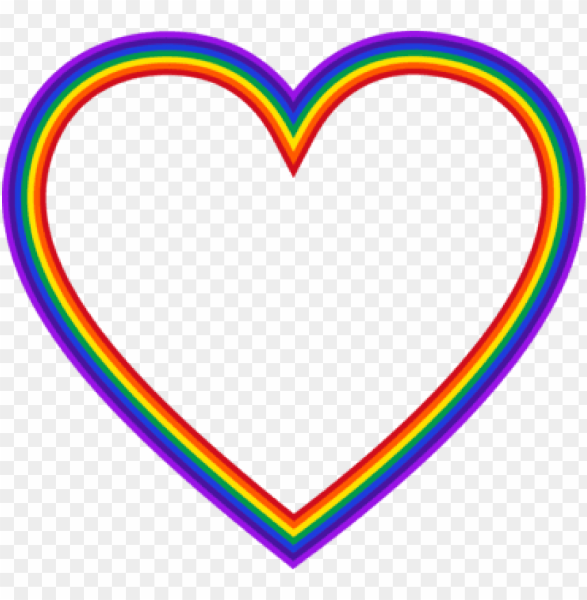 free PNG rainbow heart color computer icons - rainbow heart frame PNG image with transparent background PNG images transparent