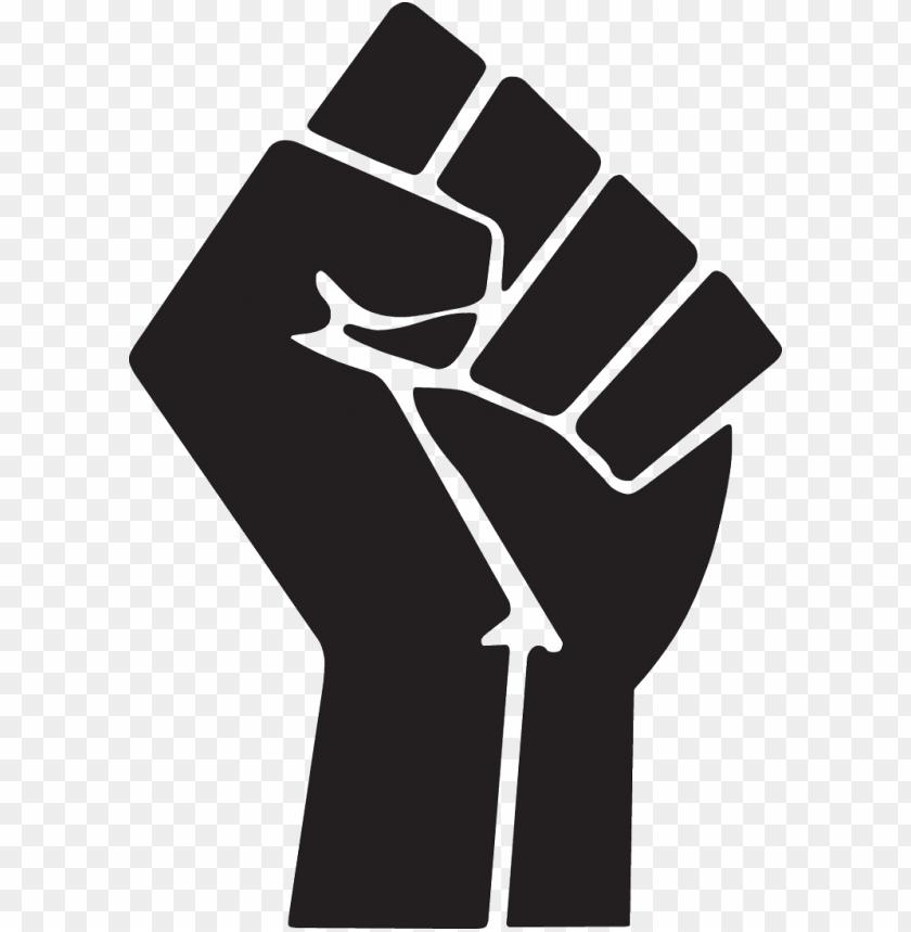 free PNG raised fist symbol clip art - black power fist PNG image with transparent background PNG images transparent