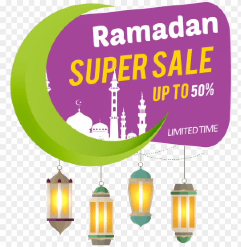 free PNG ramadan sale label banner design element, ramadan kareem, - ramadan super sale PNG image with transparent background PNG images transparent