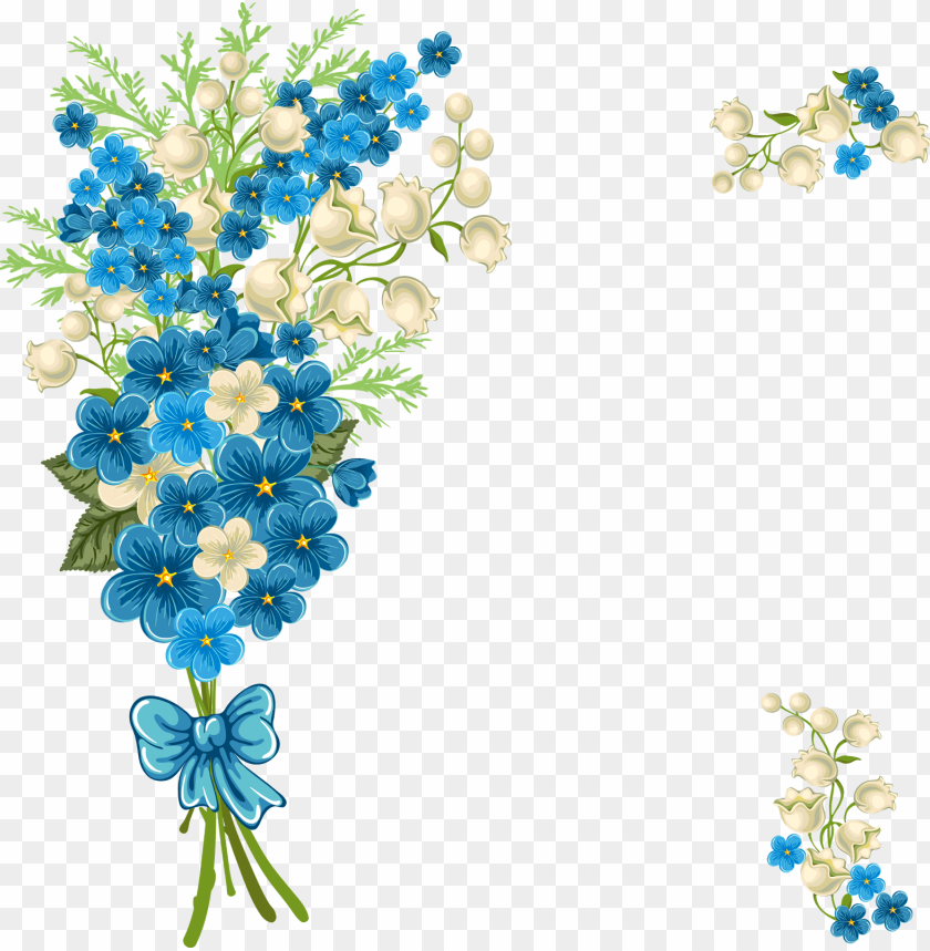 free PNG ramo azul - blue flower borders and frames PNG image with transparent background PNG images transparent