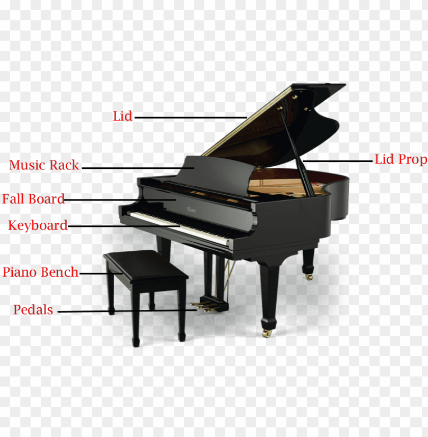 Rand Pianos Have A Few Major Piano Parts Baby Grand Piano Png Image With Transparent Background Toppng