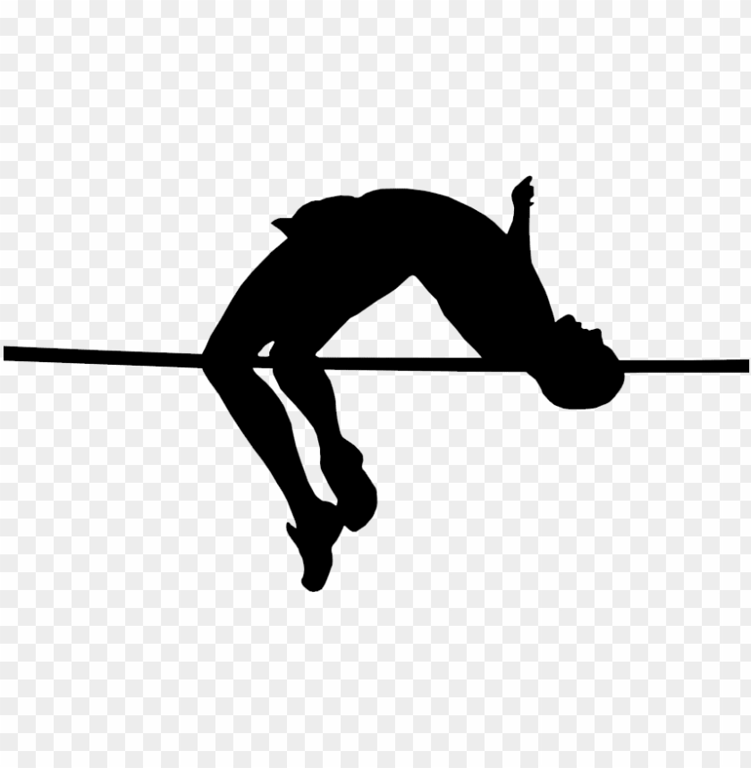 free PNG raphic black and white library high jump png black - track and field high jump clipart PNG image with transparent background PNG images transparent