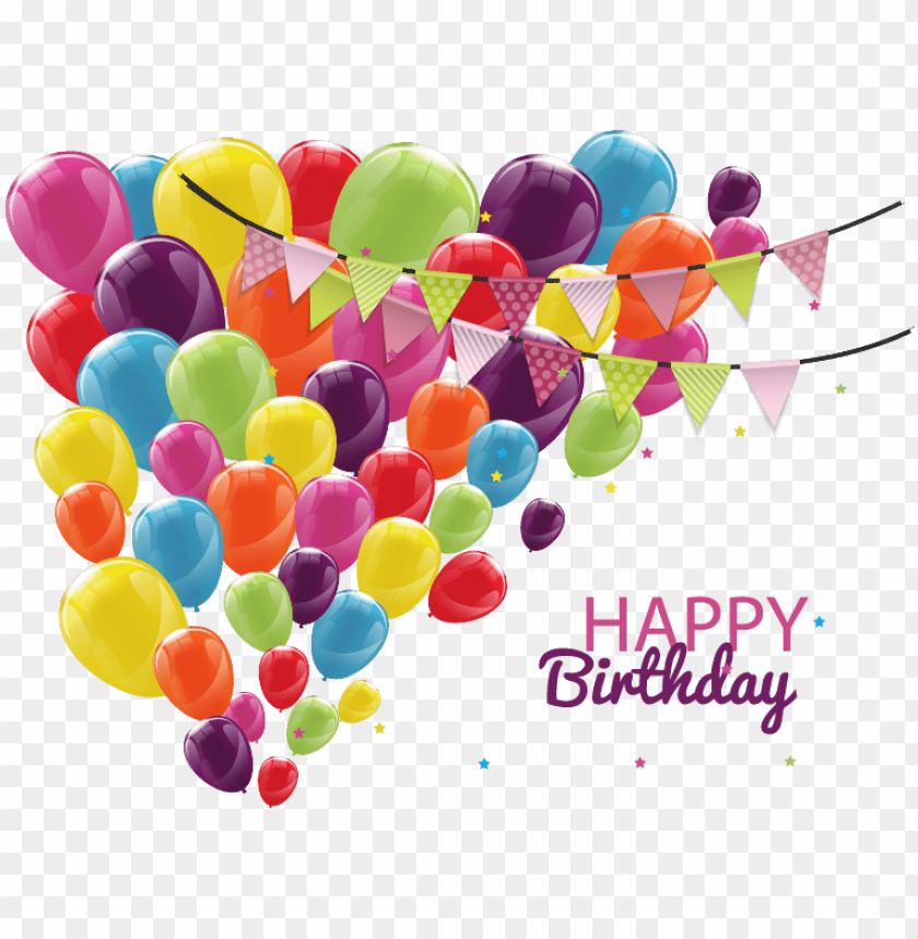 Raphic Free Download Birthday Customs And Celebrations Happy Birthday Template Balloons Png Image With Transparent Background Toppng