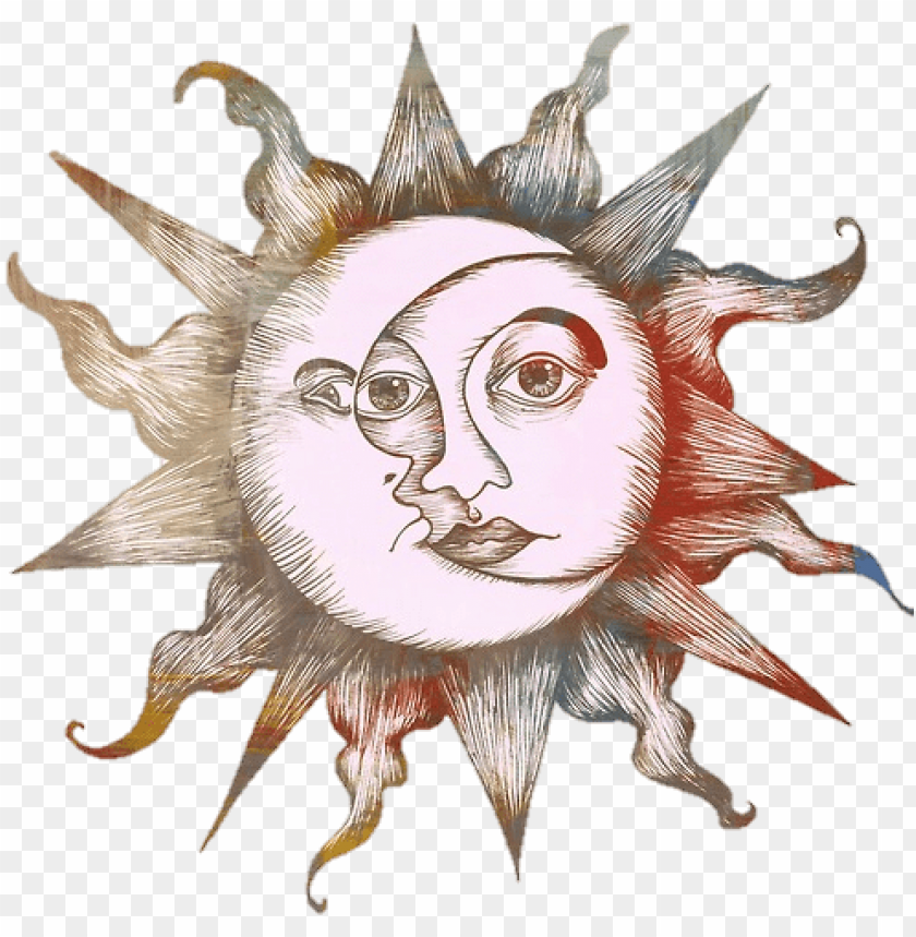 free PNG raphic free library tumblr sun sticker by - sun and moon drawings PNG image with transparent background PNG images transparent