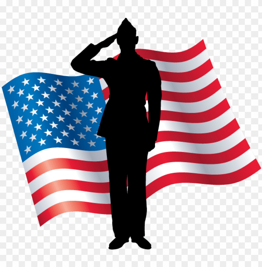 raphic of a soldier saluting with an american flag - free clip art ...