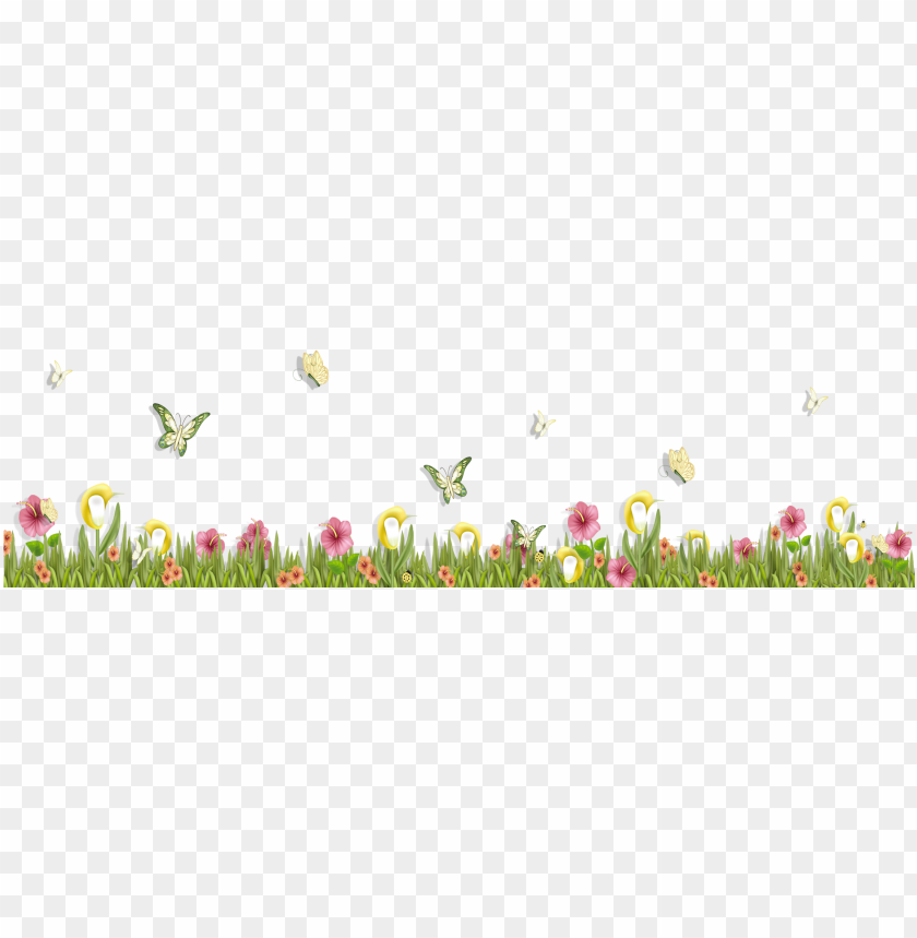 free PNG rass with butterflies and flowers png clipart - butterfly and flower clipart PNG image with transparent background PNG images transparent