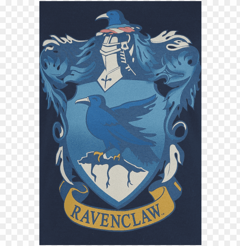 free PNG ravenclaw crest camiseta azul oscuro liso 100% algodón PNG image with transparent background PNG images transparent