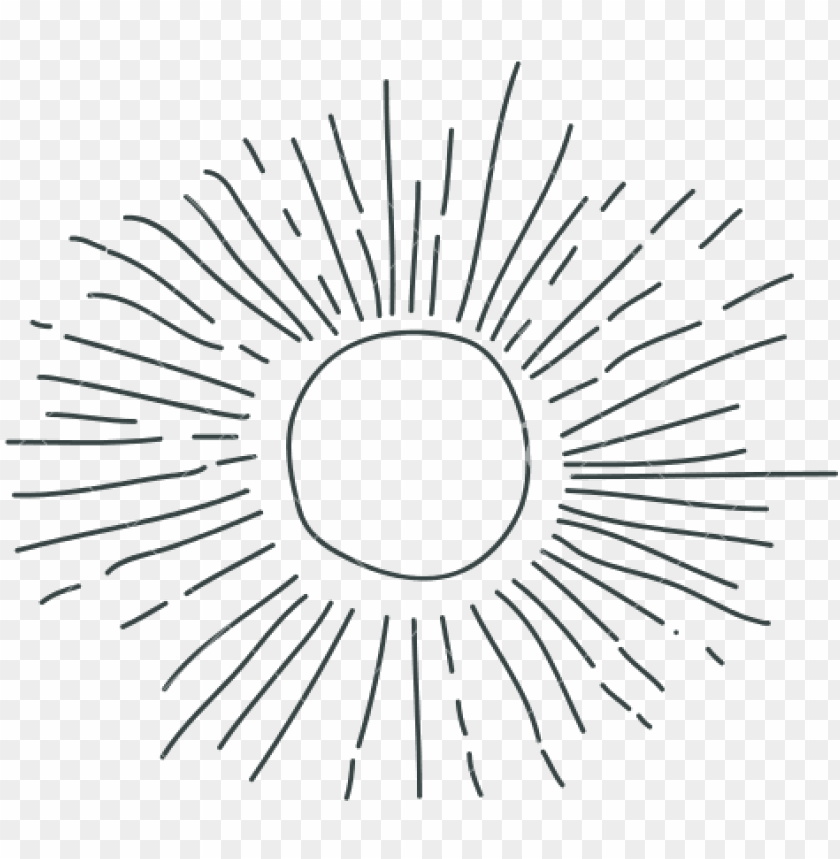 free PNG ray hand drawing silhouette of sun - sun drawing transparent PNG image with transparent background PNG images transparent