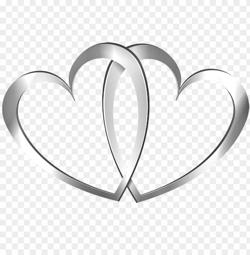 free PNG real heart silver ring wedding heart clipart the cliparts - wedding clipart silver hearts PNG image with transparent background PNG images transparent