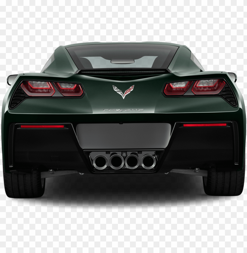 Rear Clipart Sport Car 2018 Corvette Convertible Rear Png Image With Transparent Background Toppng