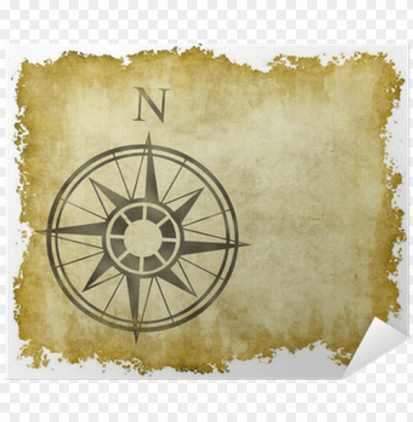 free PNG reat north arrow and compass on old parchment map - north arrow PNG image with transparent background PNG images transparent