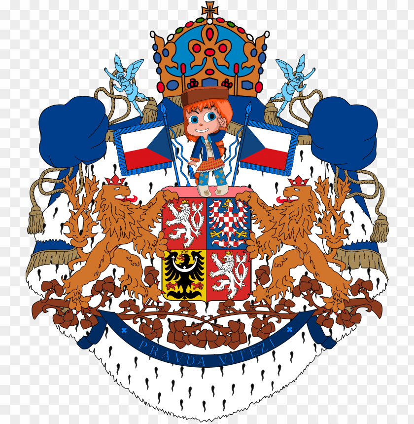 free PNG reater coat of arms of czechia - czech republic coat of arms queen duvet PNG image with transparent background PNG images transparent