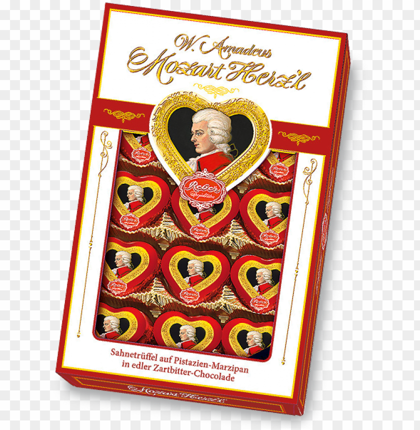 reber mozart herz'l® packung - mozart kugel PNG image with transparent background@toppng.com