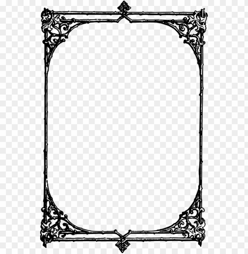 free PNG rectangle borders and frames picture frames encapsulated - pergaminho bordas para word PNG image with transparent background PNG images transparent