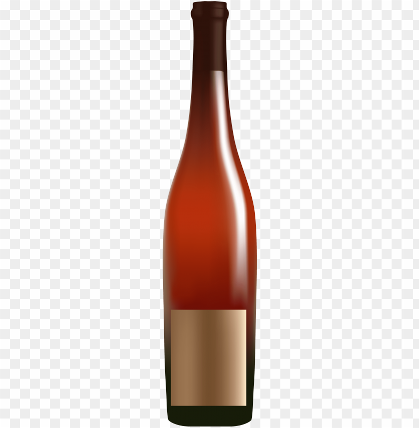 free PNG red alcohol bottle png clipart - glass bottle PNG image with transparent background PNG images transparent