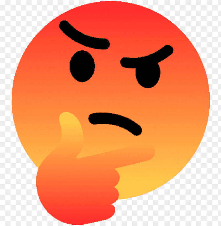 free PNG red angry emoji png the emoji - thinking emoji deep fried PNG image with transparent background PNG images transparent