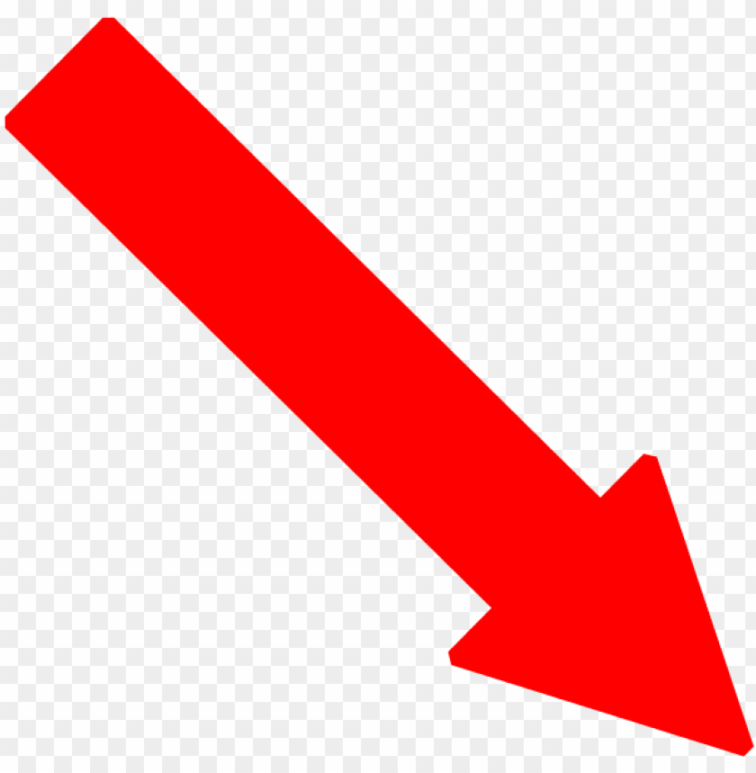Red Arrow Down Right Png Image With Transparent Background