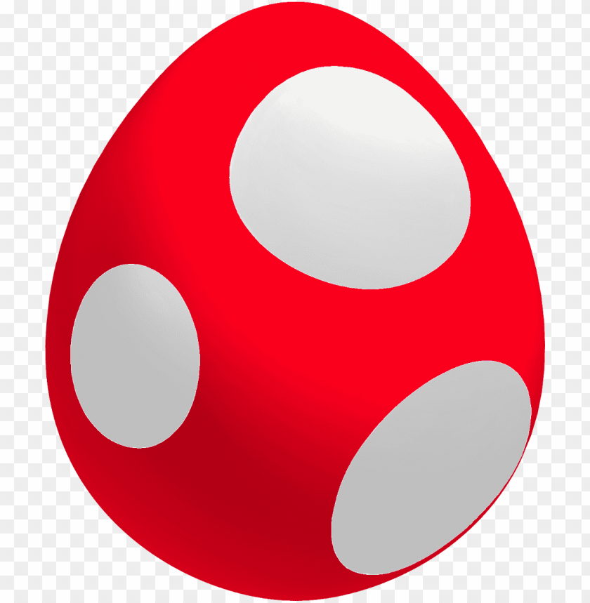 free PNG red baby yoshi egg - red yoshi egg PNG image with transparent background PNG images transparent