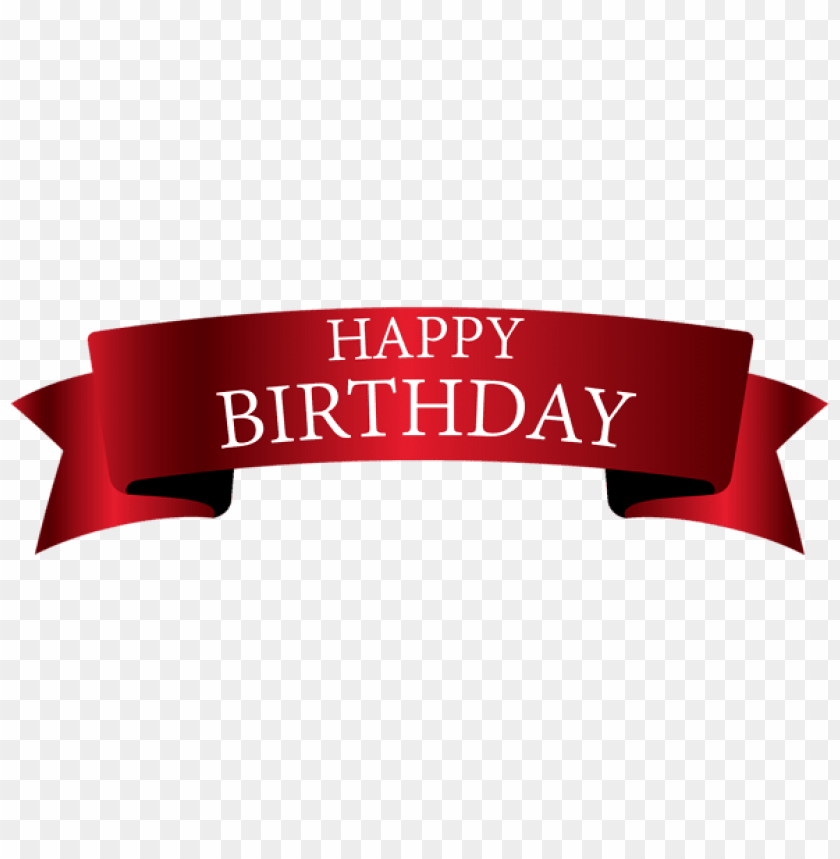 Download Red Birthday Banner Png Images Background Toppng