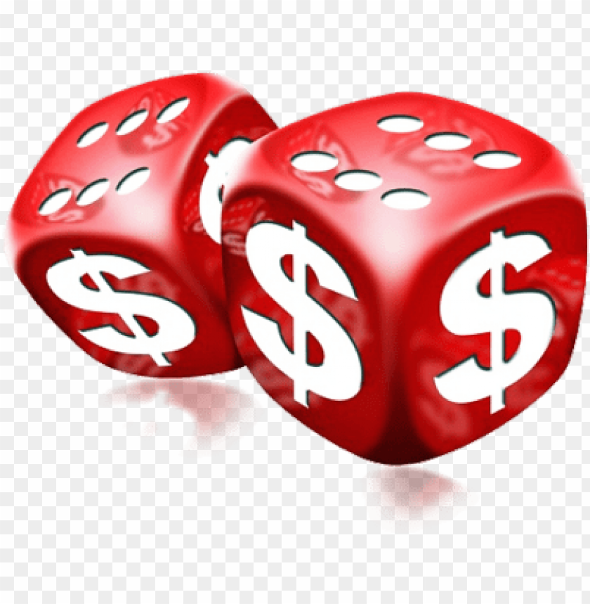 free PNG red dice png 빨간 돈 주사위 psd, 벡터 이미지 - money dice PNG image with transparent background PNG images transparent