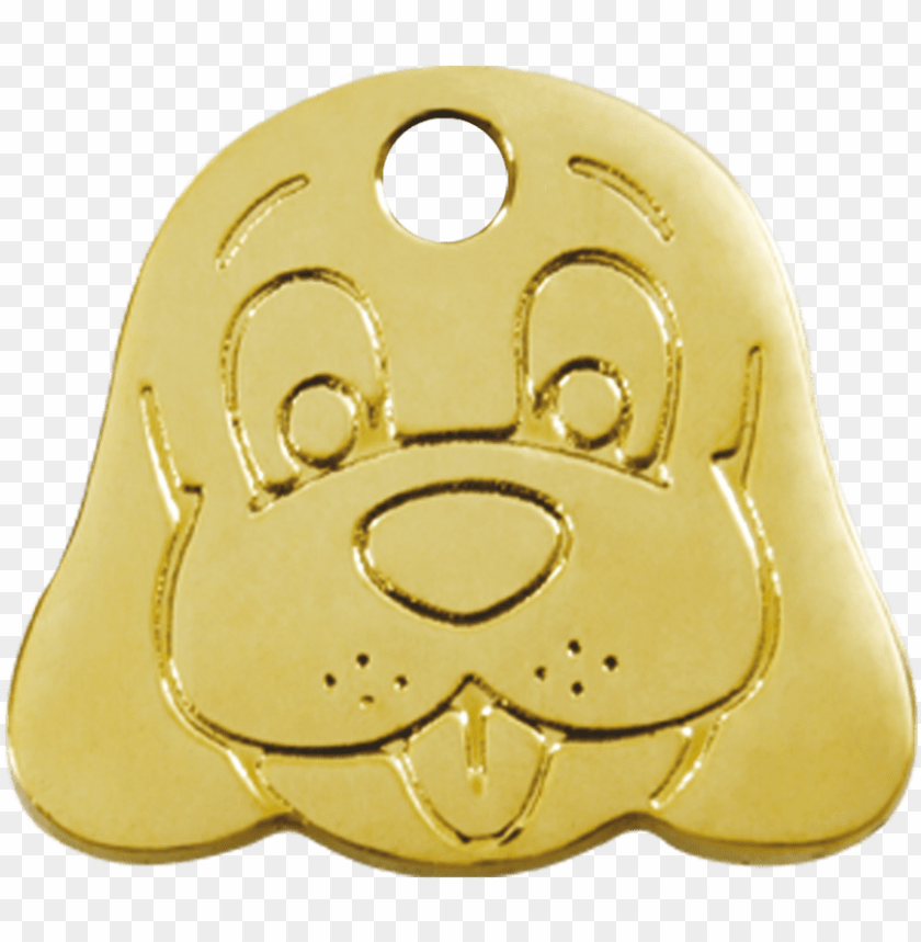 free PNG red dingo brass dog face pet id dog tags PNG image with transparent background PNG images transparent