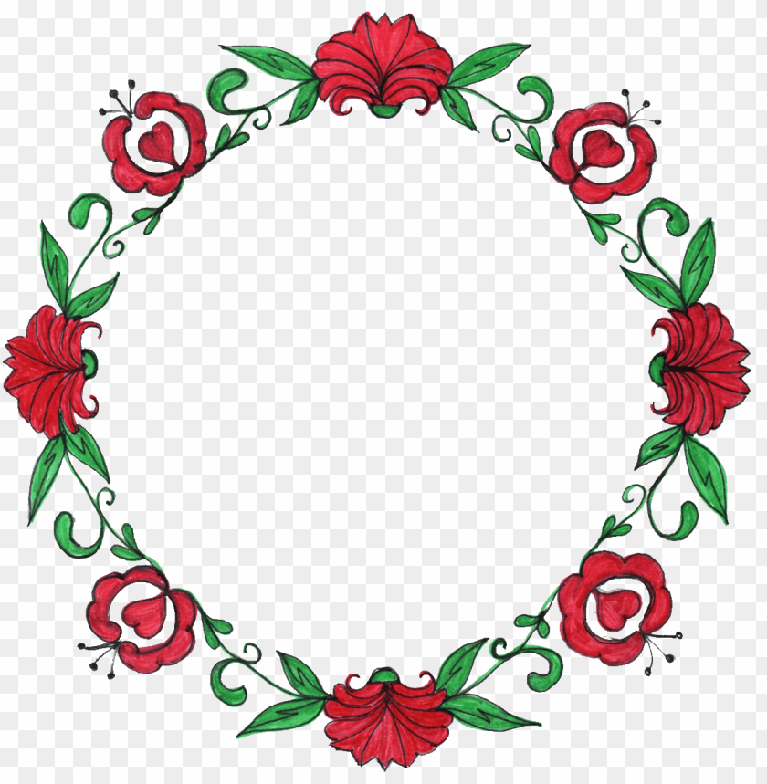 free PNG red flower clipart circle flower - flower circle frame PNG image with transparent background PNG images transparent