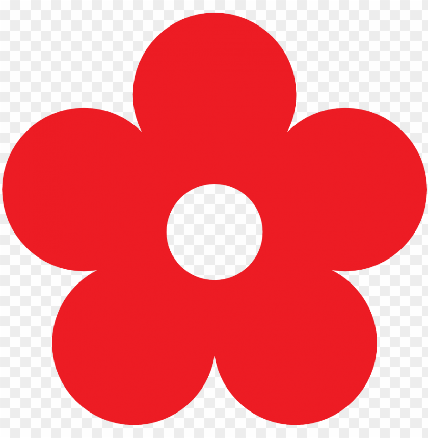 Red Flower Clipart Png Cartoon Flower Transparent Background Png