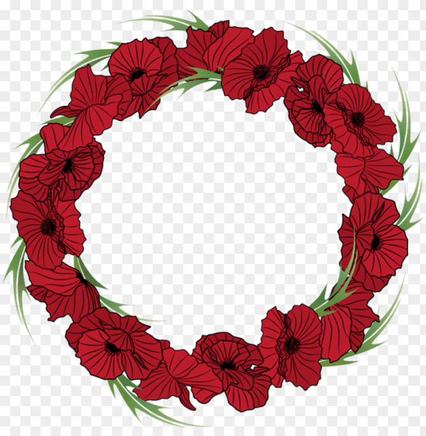 free PNG red flower clipart wreath - floral red wreath PNG image with transparent background PNG images transparent