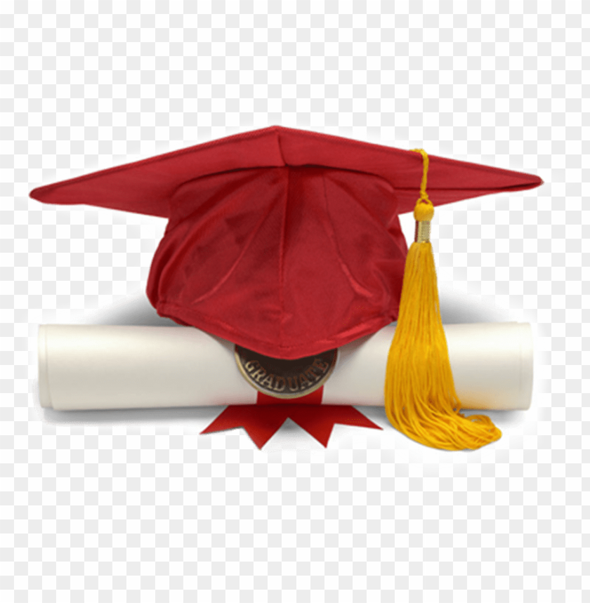 free PNG red graduation hat png - red graduation cap PNG image with transparent background PNG images transparent