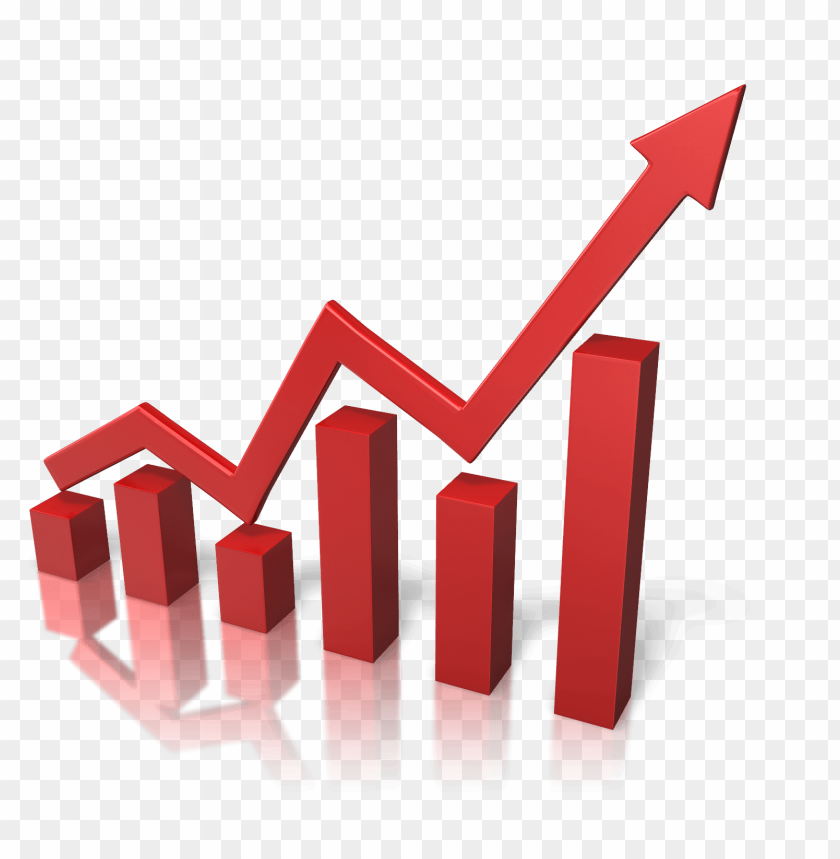 free PNG red growth graph PNG image with transparent background PNG images transparent