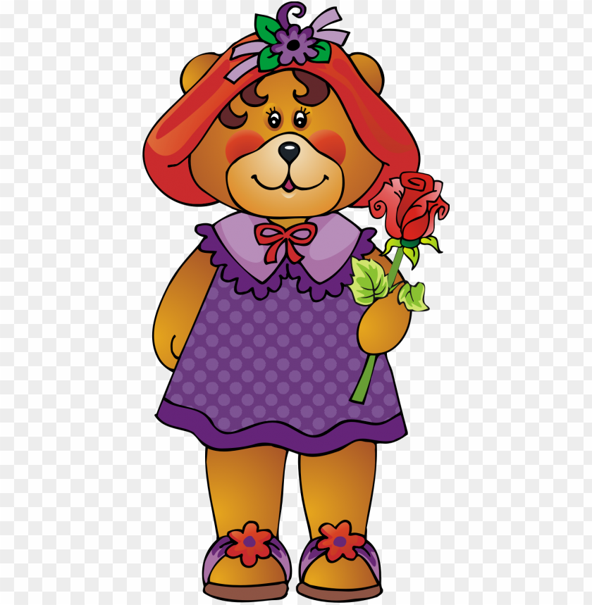 free PNG red hat bear clipart printsofjoy bear clipart, purple - cartoo PNG image with transparent background PNG images transparent