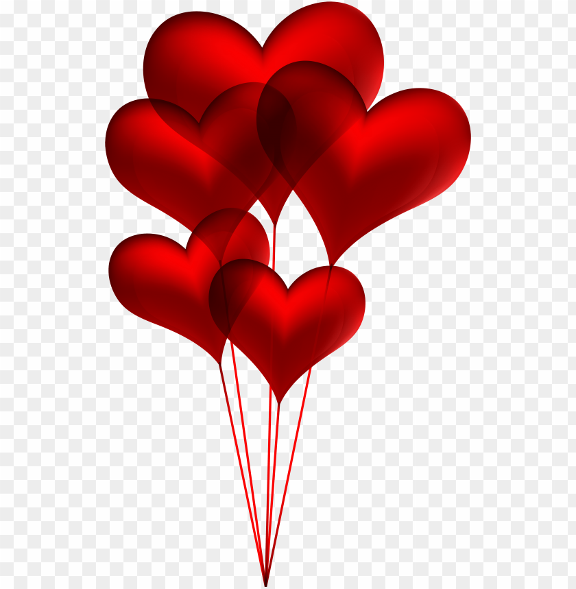 red heart balloons transparent png clip art image - heart balloons clip art PNG image with transparent background@toppng.com