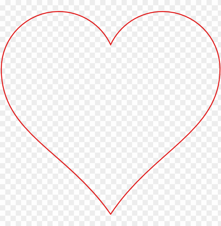 Red Heart Outline Clipart Heart Png Image With Transparent Background Toppng