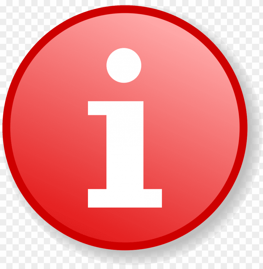 free PNG red information icon with gradient background - info icon  red png - Free PNG Images PNG images transparent