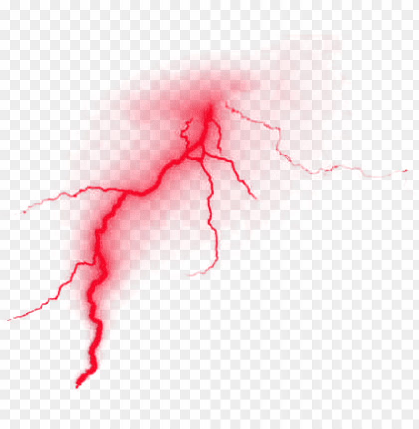 Red Lightning Png Image With Transparent Background Toppng