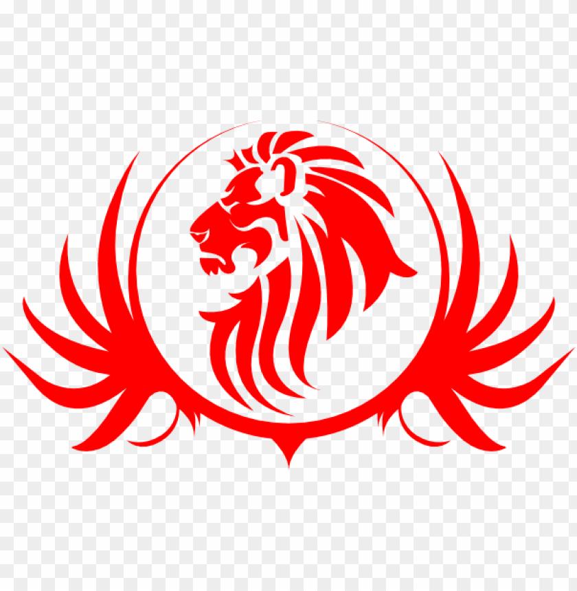 free PNG red lion clip art at clker - red lion logo PNG image with transparent background PNG images transparent