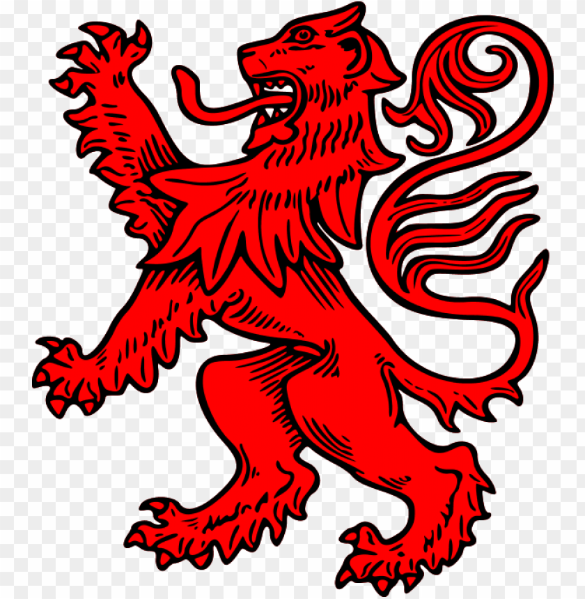 free PNG red lion rampant PNG image with transparent background PNG images transparent