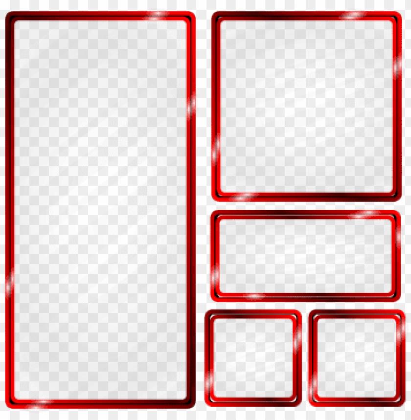free PNG red metallic frame glass effect, frame, metal, red - green metallic frame PNG image with transparent background PNG images transparent