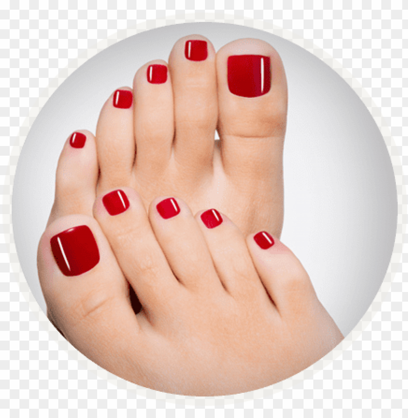 free PNG red nail pedicures - opi nail polish toes PNG image with transparent background PNG images transparent