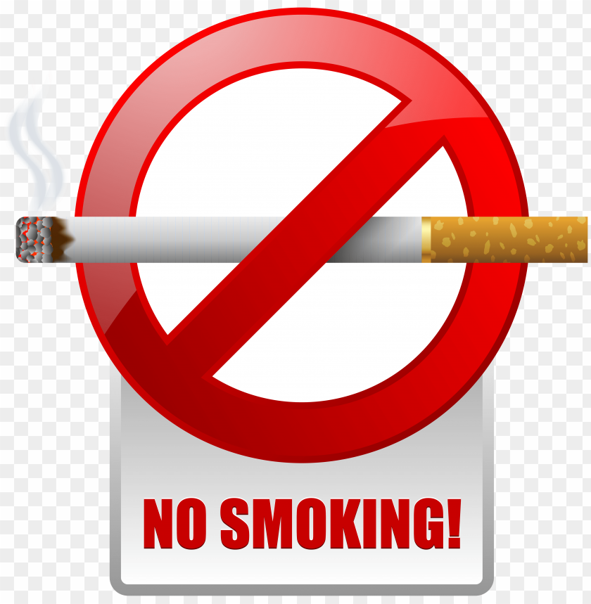 free PNG Download red no smoking warning sign clipart png photo   PNG images transparent