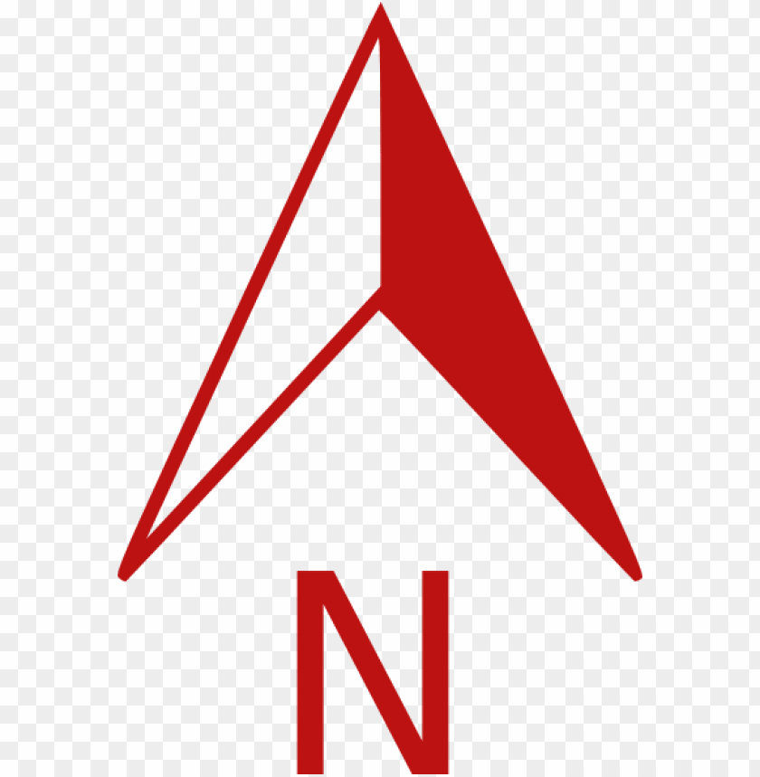 free PNG red north arrow clip art at clker - north arrow red PNG image with transparent background PNG images transparent