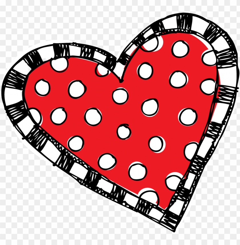 free PNG red polka dot and striped <3 - melonheadz heart PNG image with transparent background PNG images transparent