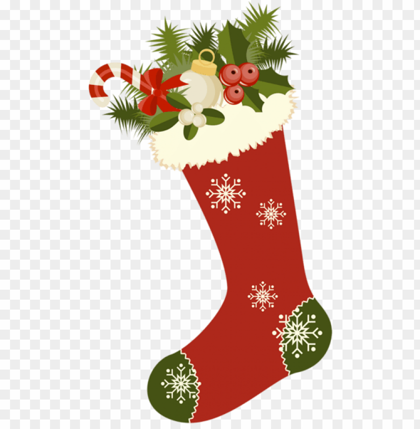 free PNG red retro christmas stocking PNG Images PNG images transparent