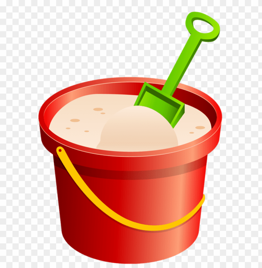 free PNG Download red sand bucket and green shovel clipart png photo   PNG images transparent