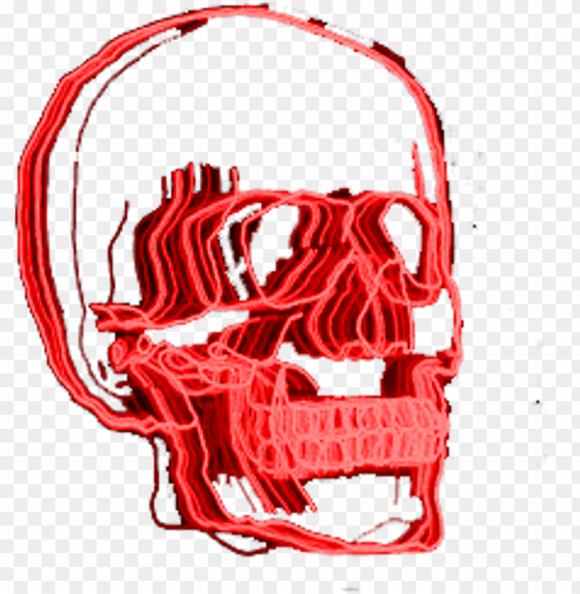 free PNG red skull neonlights neonsigns aesthetic aesthetictumbl - aesthetic grunge tumblr transparent pngs PNG image with transparent background PNG images transparent