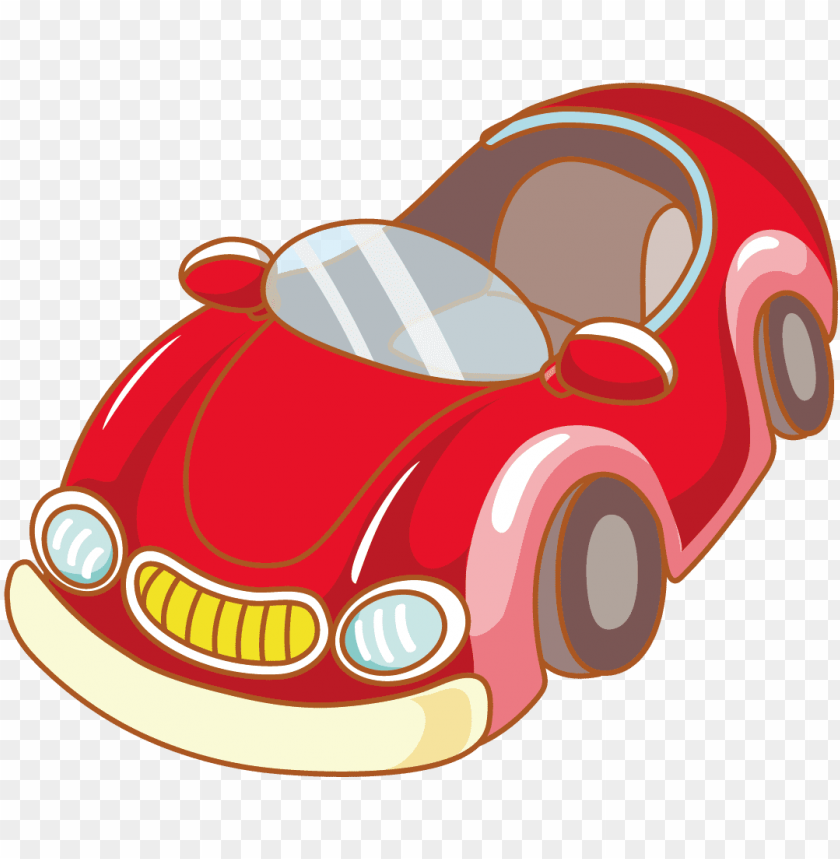 Red Sports Car Vector Material Gambar Kartun Driver Mobil Png Image With Transparent Background Toppng