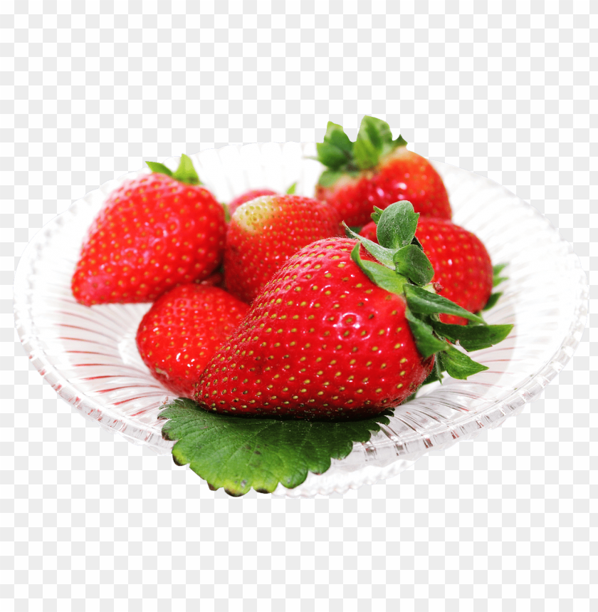 free PNG Download red strawberry in white plate png images background PNG images transparent