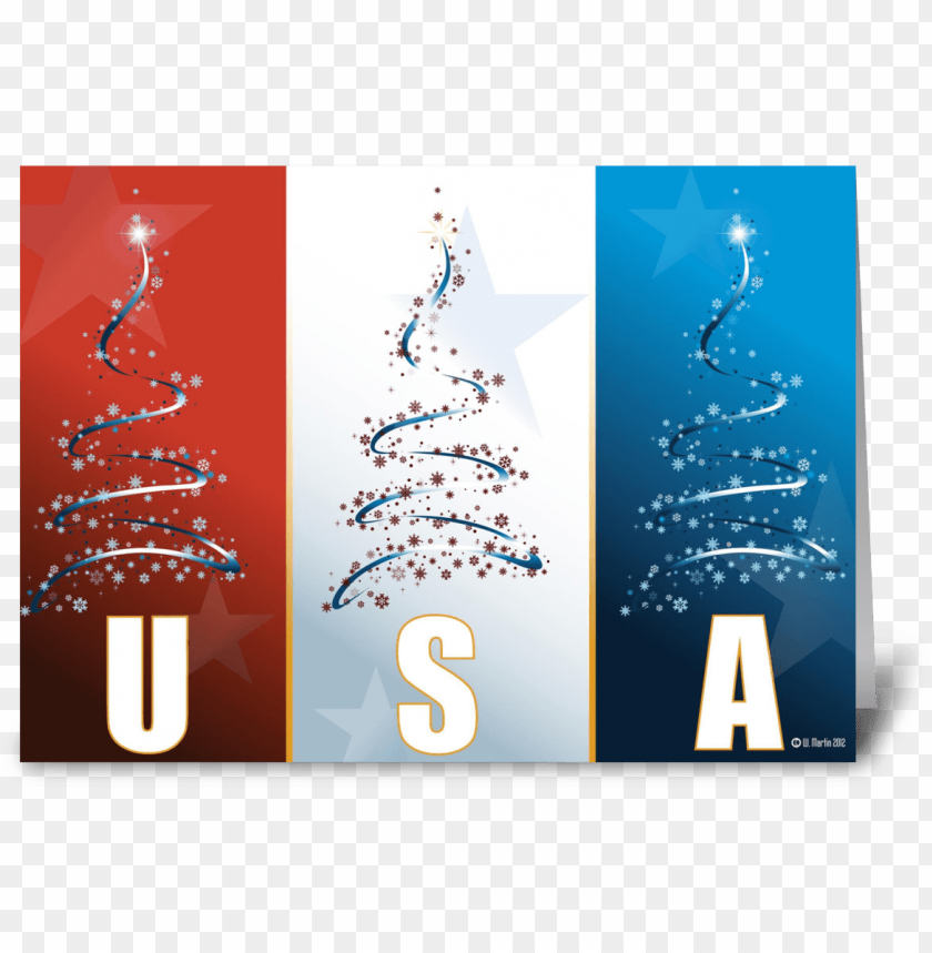 free PNG red white blue patriotic christmas card - christmas tree vector PNG image with transparent background PNG images transparent